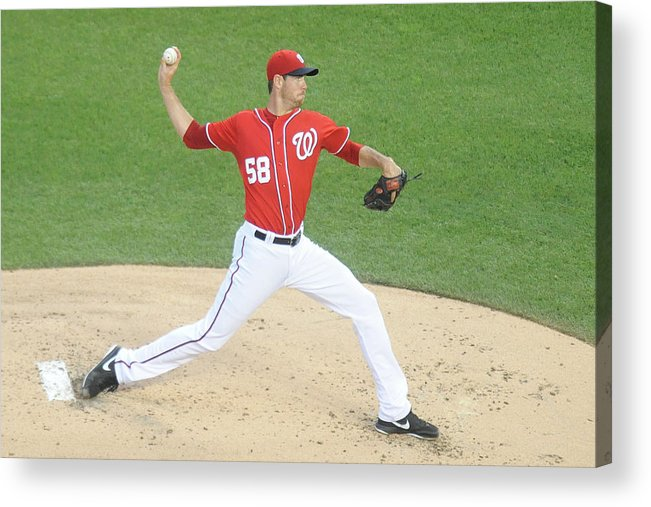 Second Inning Acrylic Print featuring the photograph Doug Fister by Mitchell Layton