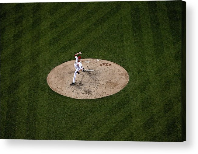 Working Acrylic Print featuring the photograph Doug Fister by Patrick Smith