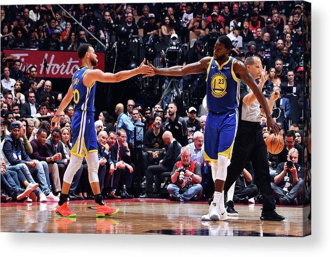 Playoffs Acrylic Print featuring the photograph Draymond Green and Stephen Curry by Jesse D. Garrabrant