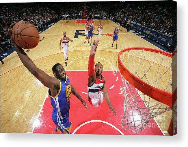 Nba Pro Basketball Acrylic Print featuring the photograph Draymond Green by Ned Dishman