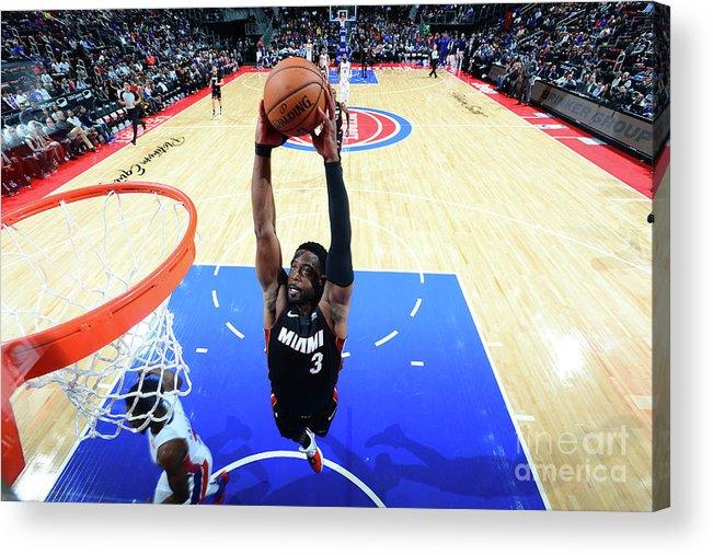 Nba Pro Basketball Acrylic Print featuring the photograph Dwyane Wade by Chris Schwegler