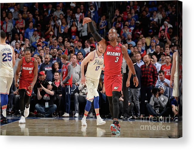 Playoffs Acrylic Print featuring the photograph Dwyane Wade by David Dow
