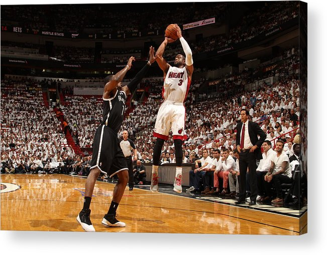 Playoffs Acrylic Print featuring the photograph Dwyane Wade by Issac Baldizon