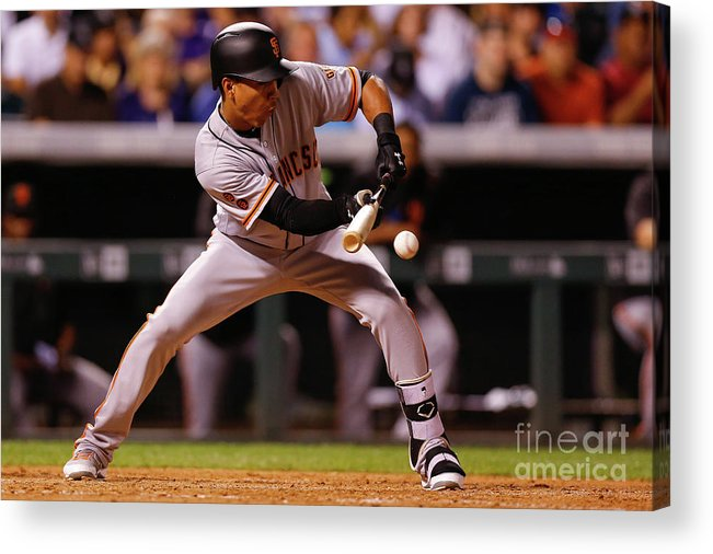 American League Baseball Acrylic Print featuring the photograph Ehire Adrianza by Justin Edmonds