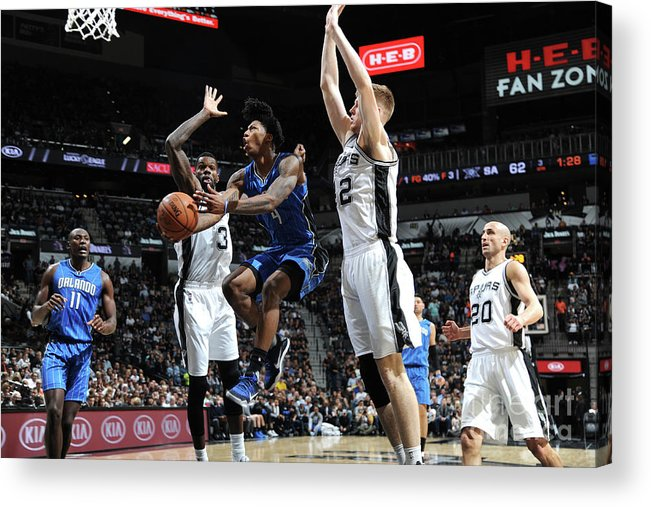 Nba Pro Basketball Acrylic Print featuring the photograph Elfrid Payton by Mark Sobhani