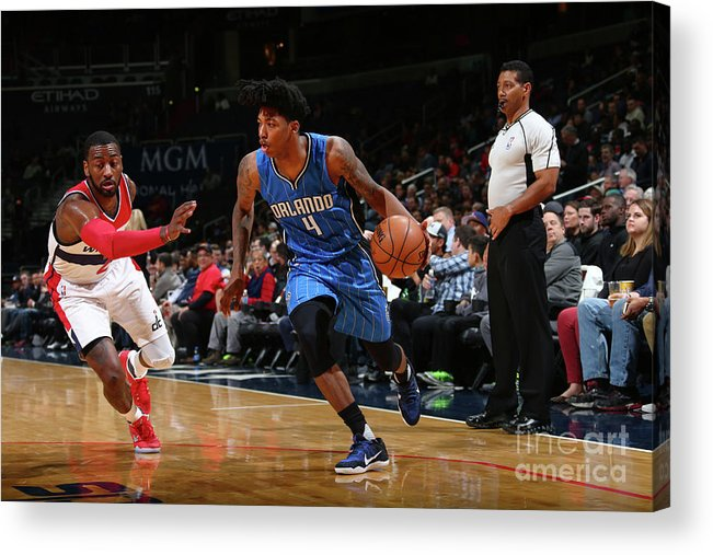 Nba Pro Basketball Acrylic Print featuring the photograph Elfrid Payton by Ned Dishman