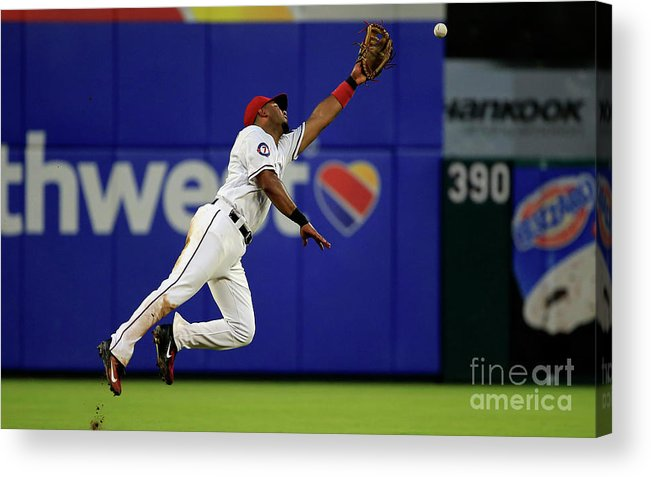 People Acrylic Print featuring the photograph Elvis Andrus and Manny Machado by Ron Jenkins