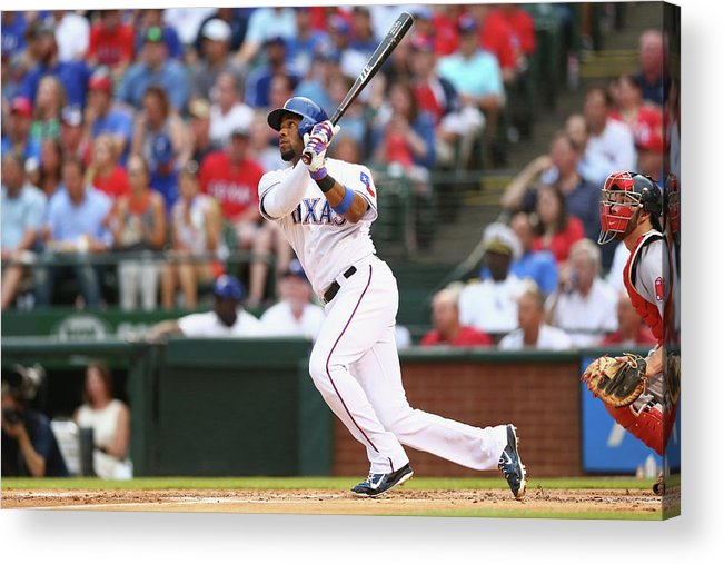 People Acrylic Print featuring the photograph Elvis Andrus by Ronald Martinez