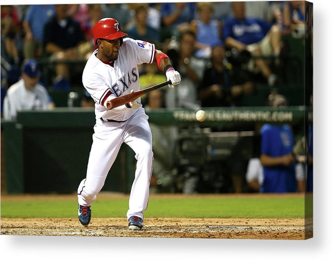 People Acrylic Print featuring the photograph Elvis Andrus by Sarah Crabill