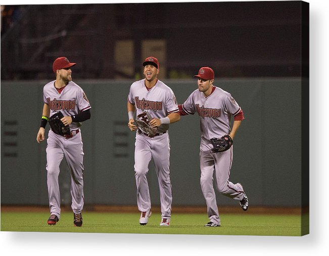 San Francisco Acrylic Print featuring the photograph Ender Inciarte and David Peralta by Jason O. Watson