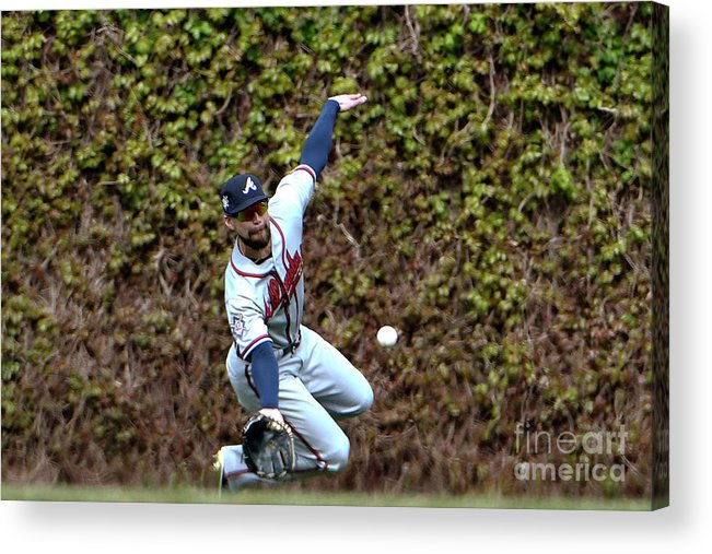 People Acrylic Print featuring the photograph Ender Inciarte and Javier Baez by David Banks