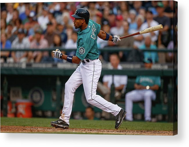American League Baseball Acrylic Print featuring the photograph Endy Chavez by Otto Greule Jr