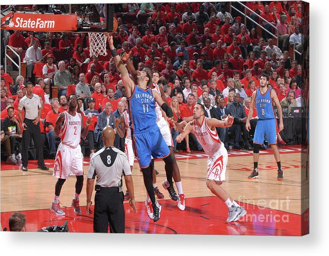 Playoffs Acrylic Print featuring the photograph Enes Kanter by Bill Baptist