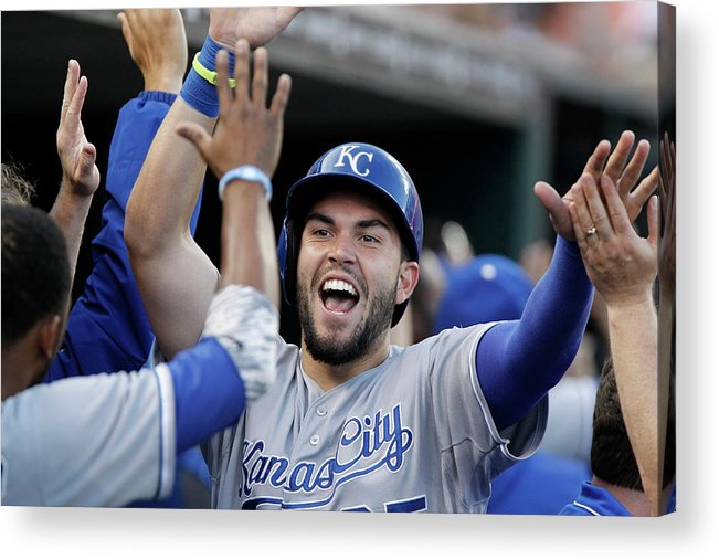 American League Baseball Acrylic Print featuring the photograph Eric Hosmer and Billy Butler by Duane Burleson