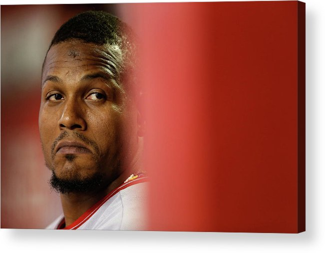 People Acrylic Print featuring the photograph Erick Aybar by Christian Petersen