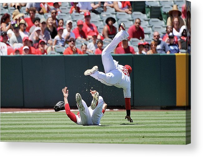 People Acrylic Print featuring the photograph Erick Aybar by Jonathan Moore