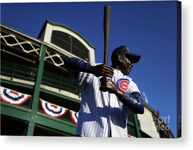 Playoffs Acrylic Print featuring the photograph Ernie Banks by Alex Trautwig