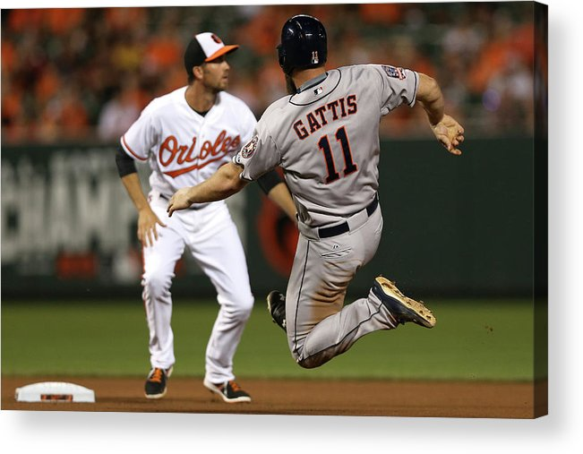 Evan Gattis Acrylic Print featuring the photograph Evan Gattis by Patrick Smith