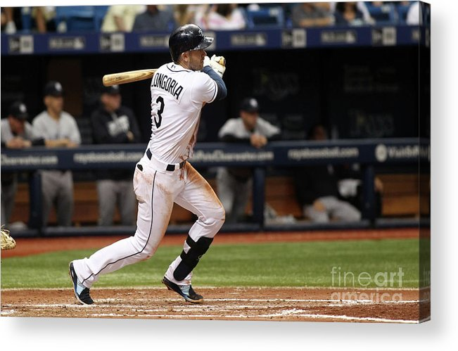 People Acrylic Print featuring the photograph Evan Longoria and Hank Conger by Brian Blanco