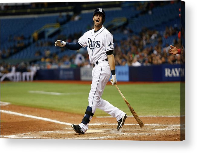 People Acrylic Print featuring the photograph Evan Longoria by Brian Blanco