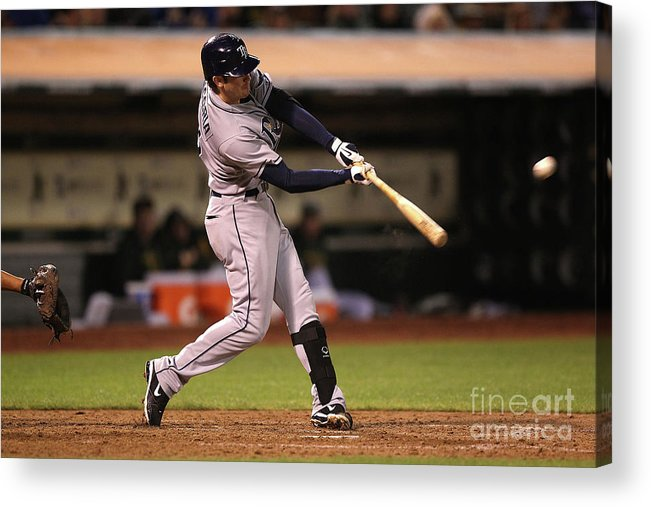 People Acrylic Print featuring the photograph Evan Longoria by Jed Jacobsohn