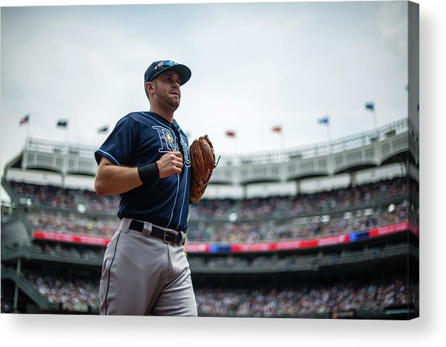 American League Baseball Acrylic Print featuring the photograph Evan Longoria by Rob Tringali