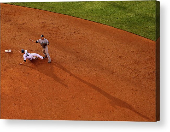 Double Play Acrylic Print featuring the photograph Everth Cabrera and Dj Lemahieu by Justin Edmonds