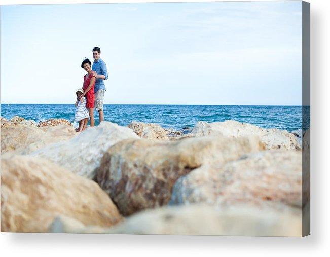 Asian And Indian Ethnicities Acrylic Print featuring the photograph Family at vacation by Yulkapopkova