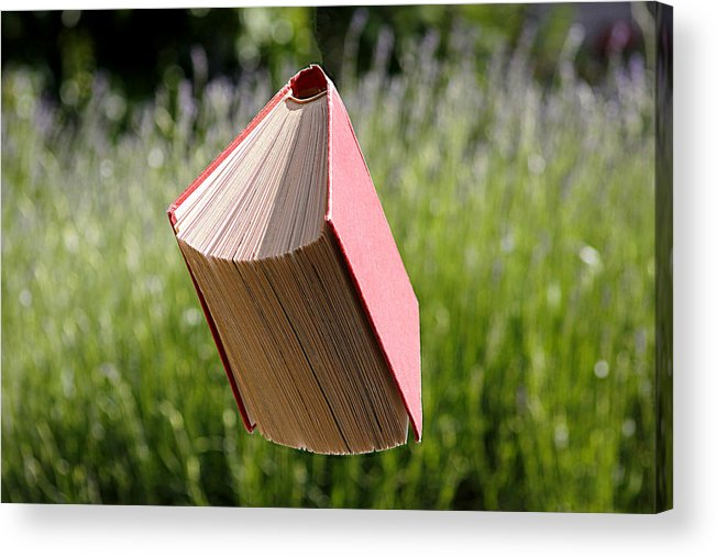 Environmental Conservation Acrylic Print featuring the photograph Floating Book by Gregoria Gregoriou Crowe fine art and creative photography.