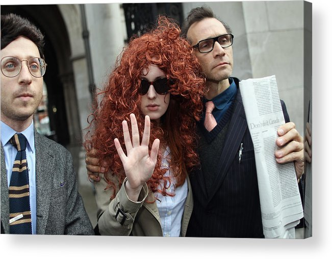 Corporate Business Acrylic Print featuring the photograph Former Chief Executive Of News International Rebekah Brooks Gives Evidence To The Leveson Inquiry by Dan Kitwood