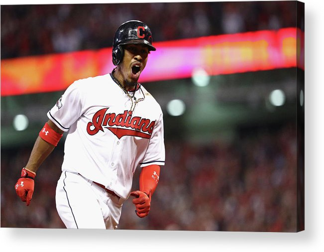 Three Quarter Length Acrylic Print featuring the photograph Francisco Lindor by Maddie Meyer