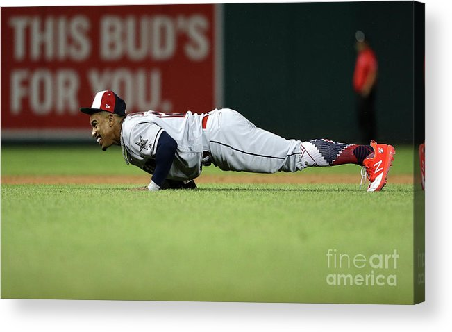 People Acrylic Print featuring the photograph Francisco Lindor by Patrick Smith