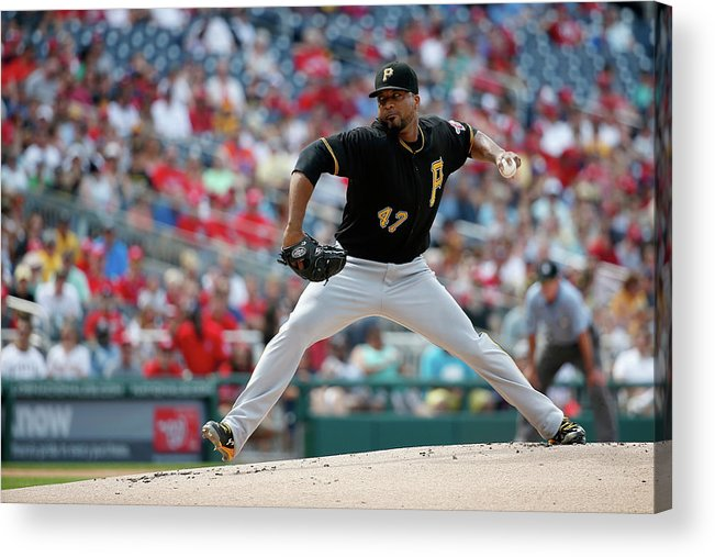 People Acrylic Print featuring the photograph Francisco Liriano by Rob Carr