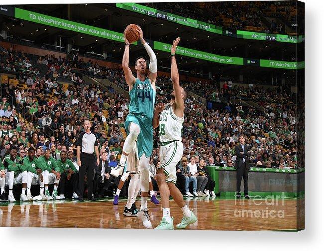 Nba Pro Basketball Acrylic Print featuring the photograph Frank Kaminsky by Brian Babineau