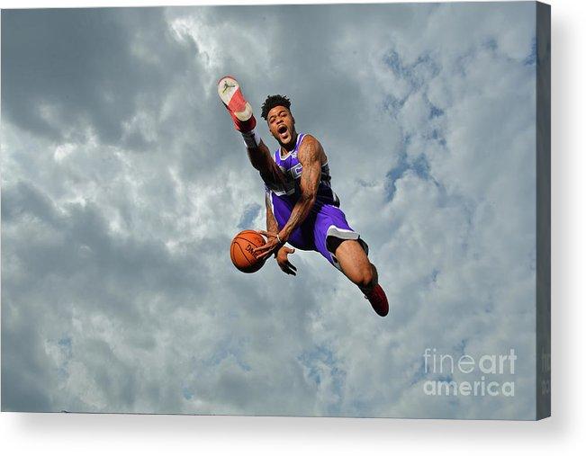 Nba Pro Basketball Acrylic Print featuring the photograph Frank Mason by Jesse D. Garrabrant