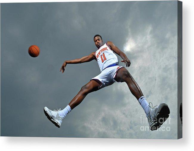 Nba Pro Basketball Acrylic Print featuring the photograph Frank Ntilikina by Jesse D. Garrabrant