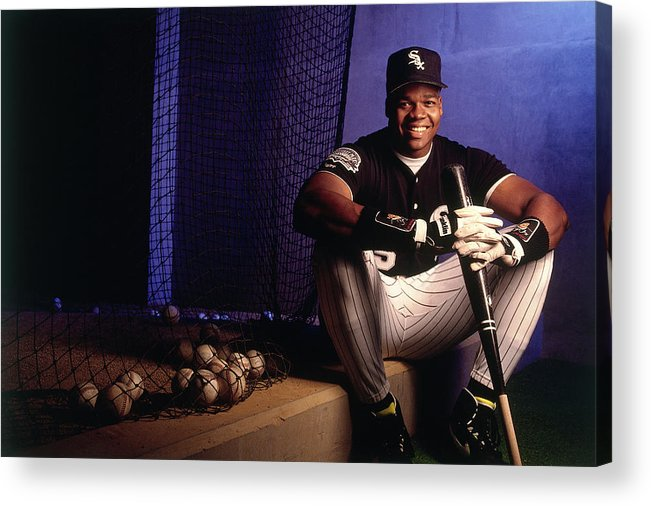 American League Baseball Acrylic Print featuring the photograph Frank White by Ronald C. Modra/sports Imagery