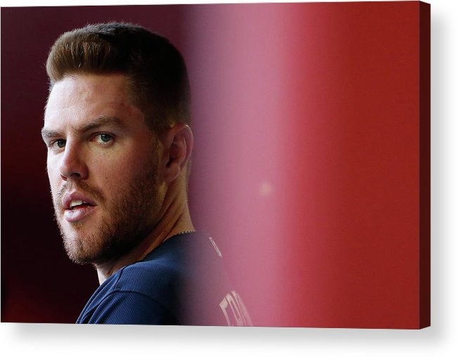 People Acrylic Print featuring the photograph Freddie Freeman by Christian Petersen