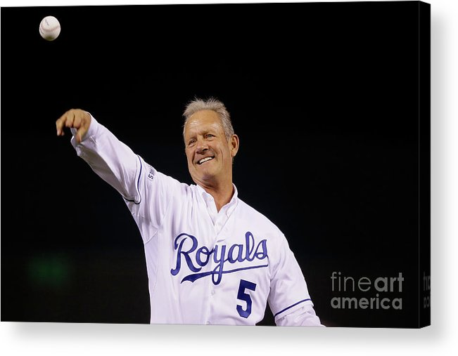 Game Two Acrylic Print featuring the photograph George Brett by Pool