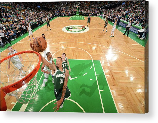 Playoffs Acrylic Print featuring the photograph George Hill by Brian Babineau
