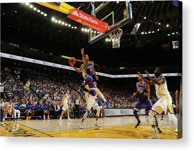 Nba Pro Basketball Acrylic Print featuring the photograph George Hill by Noah Graham