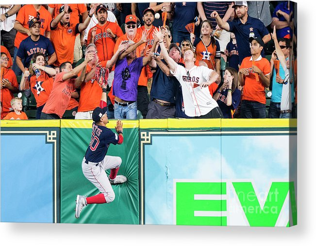 Game Two Acrylic Print featuring the photograph George Springer and Mookie Betts by Billie Weiss/boston Red Sox