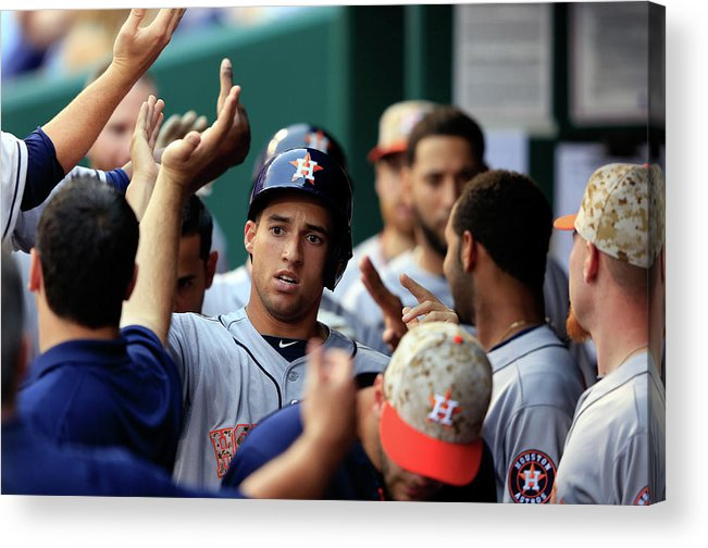 American League Baseball Acrylic Print featuring the photograph George Springer by Jamie Squire