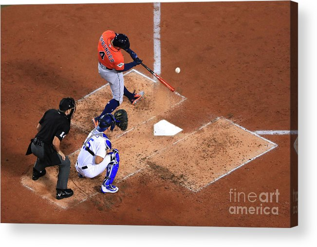 Second Inning Acrylic Print featuring the photograph George Springer by Sean M. Haffey