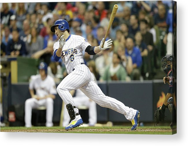 People Acrylic Print featuring the photograph Gerardo Parra and Carlos Gomez by Mike Mcginnis
