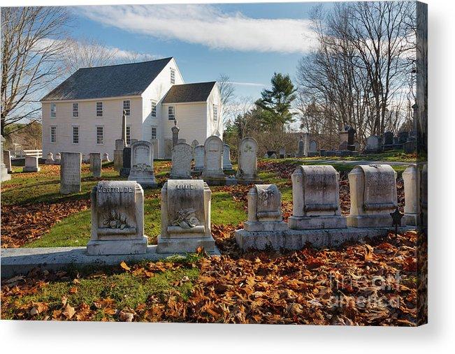 Scenic Acrylic Print featuring the photograph German Lutheran Meetinghouse - Waldoboro Maine by Erin Paul Donovan