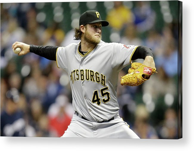 Gerrit Cole Acrylic Print featuring the photograph Gerrit Cole by Mike Mcginnis