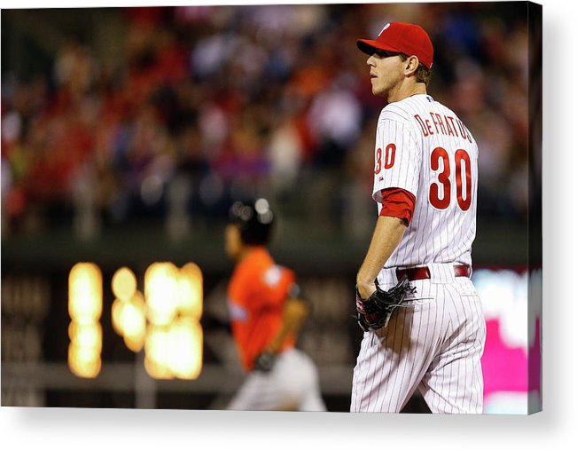 Defeat Acrylic Print featuring the photograph Giancarlo Stanton by Brian Garfinkel