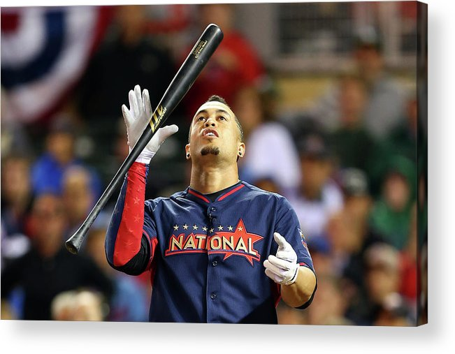 American League Baseball Acrylic Print featuring the photograph Giancarlo Stanton by Elsa
