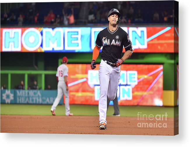 People Acrylic Print featuring the photograph Giancarlo Stanton by Eric Espada